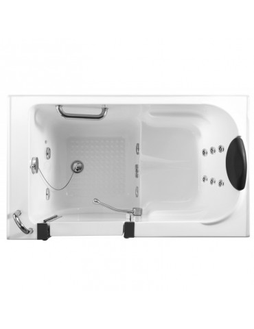 Free standing bath tub with door