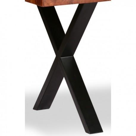 Patte en X noire pour table