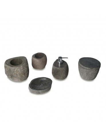 Bathroom set river stone accessories