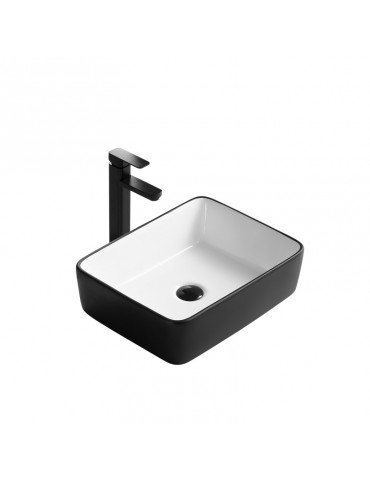 Volva, lavabo blanc et noir