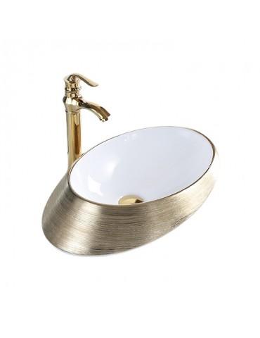 Odin, lavabo or et blanc